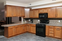 beech kitchen open floorpan