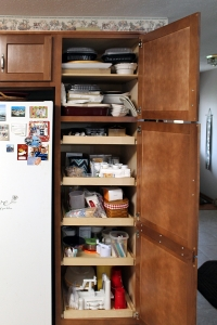 beech pantry with drawers