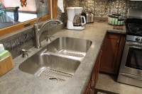 close up of countertop and sink