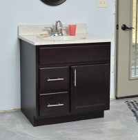 onyx maple vanity from centerline cabinets