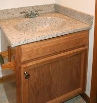 kountry oak vanity and countertop