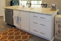 painted white kitchen island